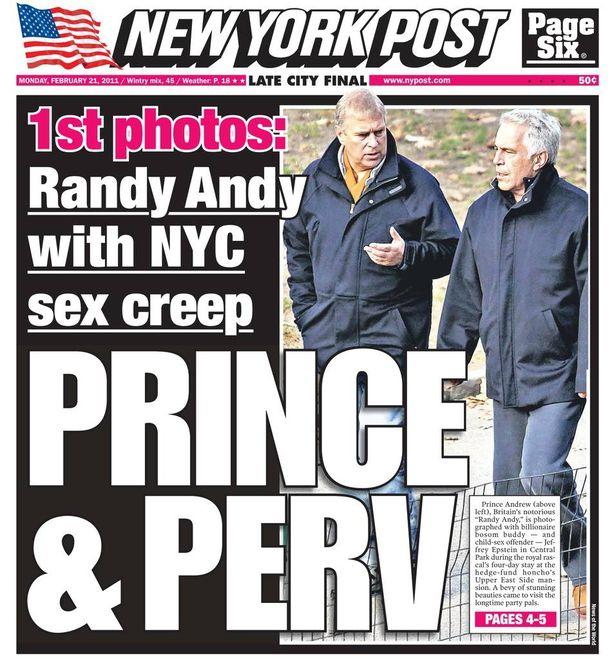 Britannian prinssi Andrew joutui myrskyn silmään vuonna 2011, kun hänen väitettiin osallistuneen Epsteinin järjestämiin orgioihin tämän Floridan-kartanossa.