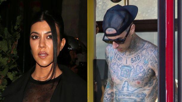 Kourtney Kardashian ja Travis Barker olivat ystäviä ja naapureita ennen romanssia. Kuva: AOP