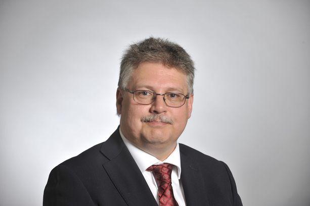 Perussuomalaisten poliisikansanedustaja Ismo Soukola.