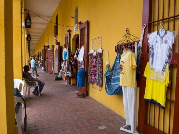Myyntikojuja Cartagenassa.
