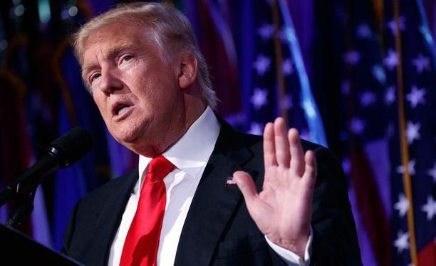 Donald Trump puhui New Yorkissa vaalivoittonsa jälkeen.