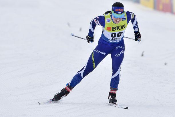 Krista Pärmäkoski junttasi sunnuntaina Davosissa viimeiset 1,8 kilometriä 7–15 sekuntia lujempaa kuin kukaan muu.