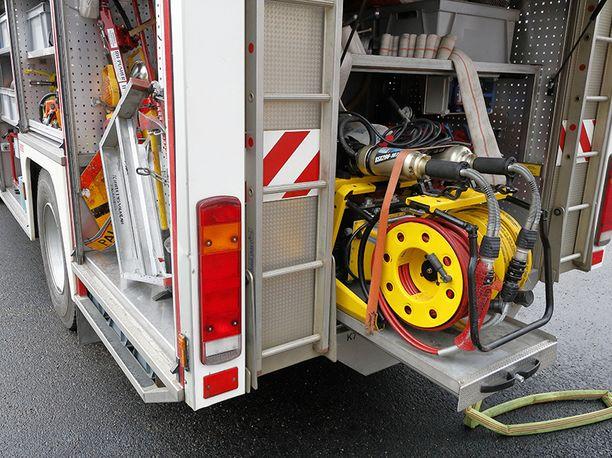 Espoon Haukilahdessa neljän huoneiston rivitalossa syttyi varhain perjantaina tulipalo. Kuvituskuva.