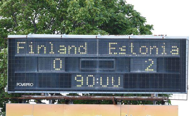 Tulostaululla olivat tylyt 0-2-lukemat ottelun jälkeen.