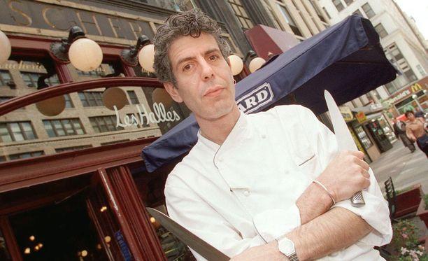 Kuva otettu vuonna 2000, jolloin Bourdain oli juuri julkaissut ensimmäisen kirjansa.