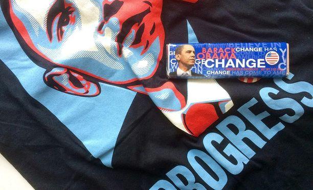 Barack Obaman kampanjan aikana jaettiin Hope-suklaapatukoita.