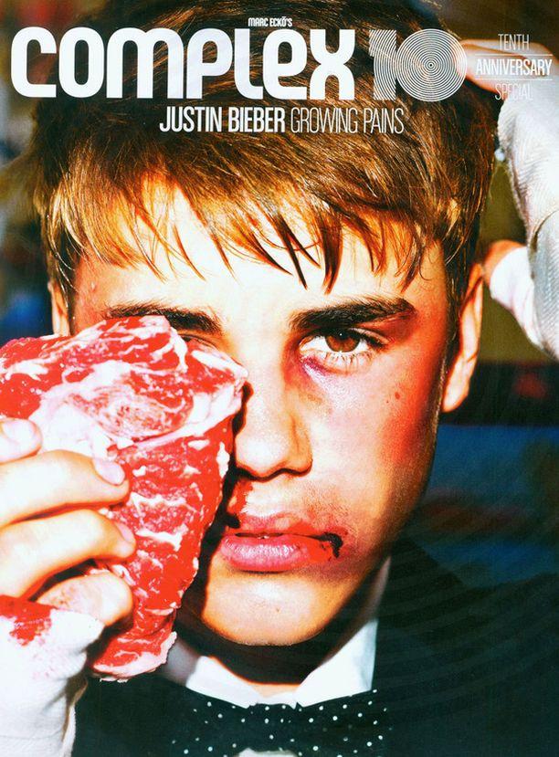 Justin Bieber ei niin siloiteltuna.