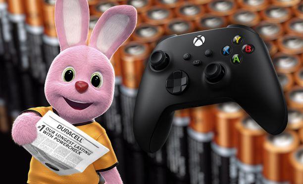 Xbox-ohjainten mukana toimitetaan Duracellin paristot.