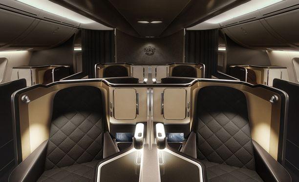 Ensimmäisen luokan matkustajilla on lokoisat oltavat BA:n Airbus A380-lennoilla.