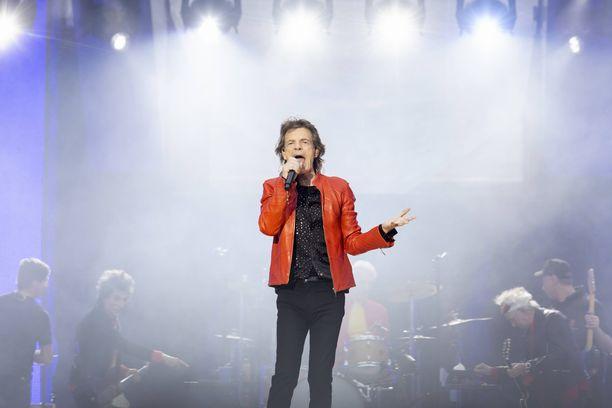 Mick Jagger esiintyy Berliinissä vuonna 2018.