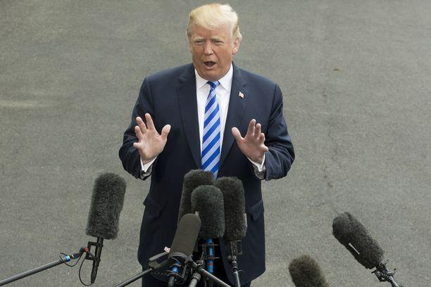 Donald Trump puhui Iranin ydinsopimuksesta tiistai-iltana. Arkistokuva.