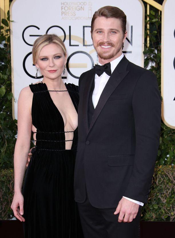 Dunst ja Hedlund tammikuussa Golden Globe -gaalassa.