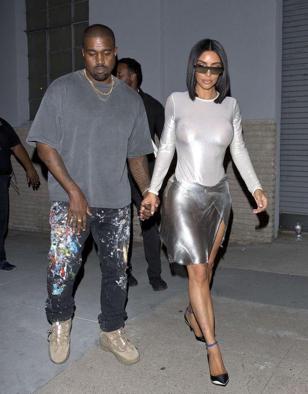 Kanye West ja Kim Kardashian-West.