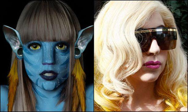 Lady Gaga on tunnettu erikoisista asuistaan, joten haltijamaiset korvat soveltuvat laulajalle vallan mainiosti.