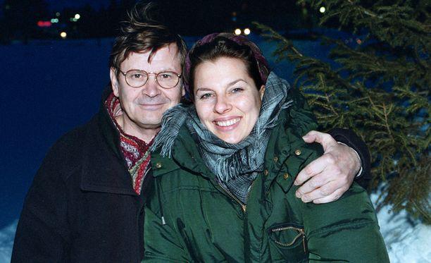 Heikki Kinnunen ja Satu Silvo vuonna 1999. Pariskunta erosi kolme vuotta myöhemmin.