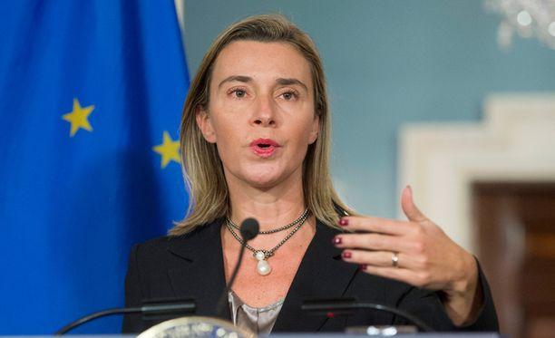 Federica Mogherini kertoi EU-maiden päätöksistä torstaina.