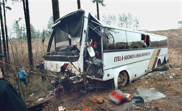 Heinolan bussiturma vuonna 1999 vaati neljä kuolonuhria.