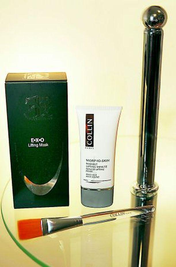 NAAMIOHUVIT F&F Socmeceuticalsin E.X.O. -liftaava naamio ja Collinin vastaava tuote tuovat pikakiinteytyksen paitsi kesän, myös esimerkiksi juhlinnan jälkeen.