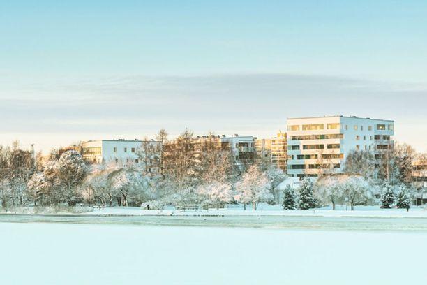 Oulun Koskenrannassa sijaitseva uusi 66,5-neliön kolmio on myynnissä 199 000 euron hintaan.