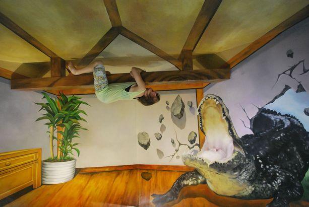 Phuket Trickeye Museumissa voi ihmetellä kolmiulotteista taidetta aivan lähietäisyydellä.