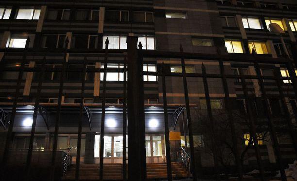 Tässä rakennuksessa toimi Moskovan antidopinglaboratorio, jossa tuhottiin näytteitä. Kuva joulukuulta 2015.