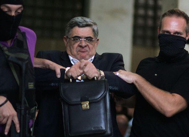 Kultainen aamunkoitto -puolueen johtaja Nikos Michaloliakos on kiistänyt holokaustin.