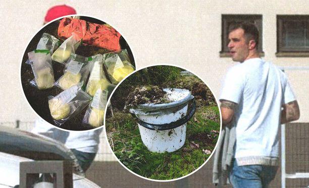 Ranta-aho näytti poliisille huumekätköt, joita poliisi ei ollut aiemmin löytänyt.