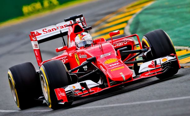 Sebastian Vettel nousi Melbournessa palkintopallille.