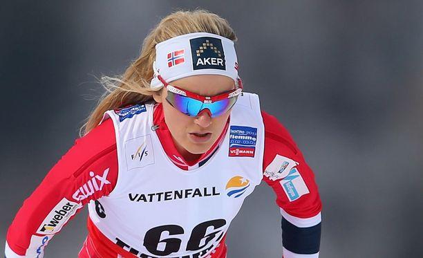 Martine Ek Hagen selvisi säikähdyksellä pyöräilyonnettomuudesta.