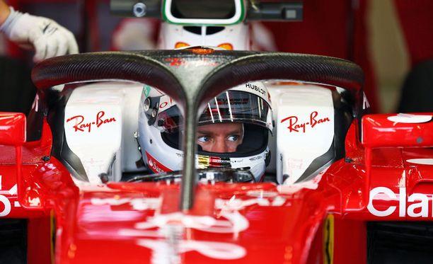 Sebastian Vettelin autossa nähtiin viikonloppuna uusi versio Halo-turvaviritelmästä.