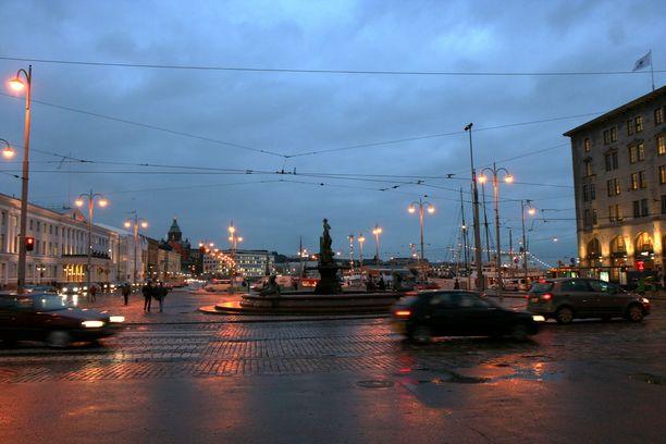 Kuvituskuva, marraskuinen Helsinki.