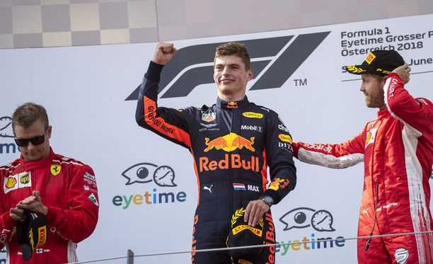 Itävallassa ykköskorokkeelle nousseesta Max Verstappenista tuli kauden neljäs GP-voittaja.