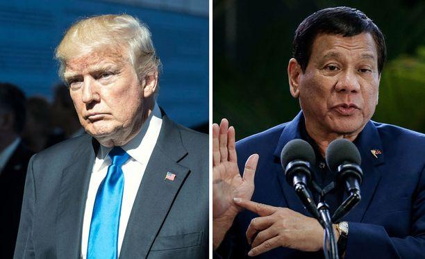 Trumpin ystävällinen suhtautuminen Filippiinien Rodrigo Duterteen on herättänyt kritiikkiä.