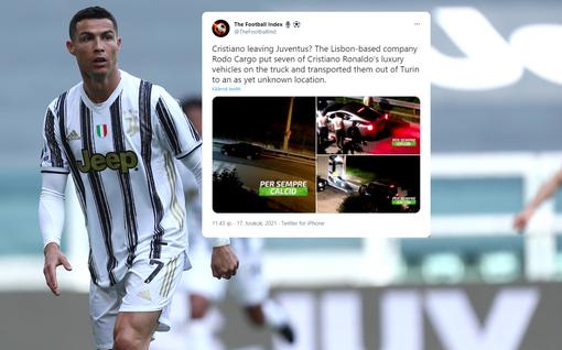 Rekkaan lastattiin miljoonien arvoinen autokokoelma – Cristiano Ronaldo luikkimassa tiehensä