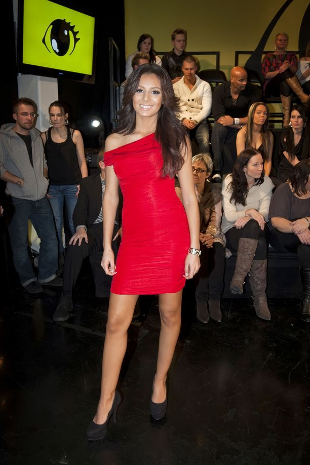 Sofia Belórf ikuistettuna Big Brother 2010 -finaalissa.