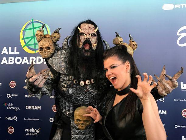 Mr. Lordi ja Saara Aalto.