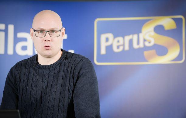 Perussuomalaisten Simo Grönroos.