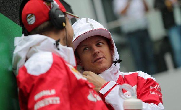 Kimi Räikkönen jäi nollille Interlagosin sunnuntaiajelussa.