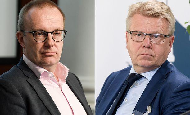 EK:n toimitusjohtaja Jyri Häkämies ja SAK:n puheenjohtaja Jarkko Eloranta ovat osittain eri mieltä siitä, miten valtion tulisi auttaa Kaipolan tehdasta.