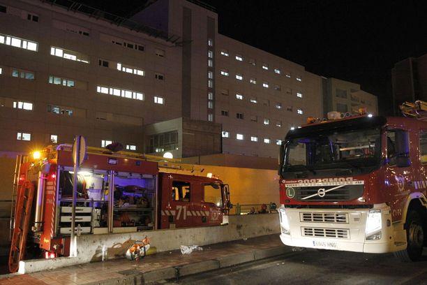 La Candelarian sairaalasta evakuoitiin 124 potilasta myöhään maanantaina Teneriffalla.