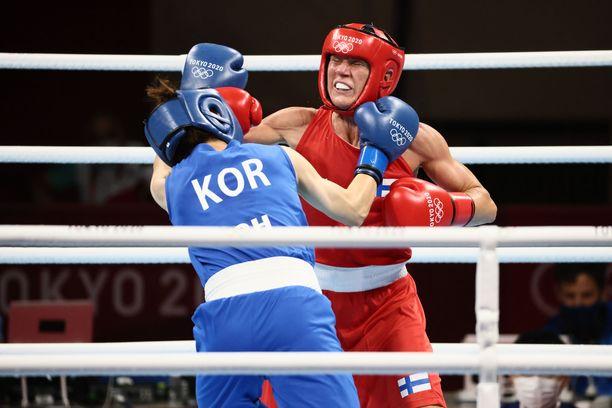 Mira Potkonen otti upean voiton kakkossijoitetusta korealaisesta.