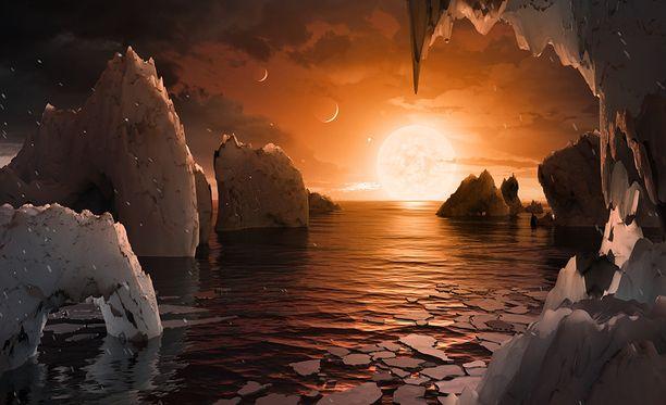 Tällaiselle voisi näyttää hiljattain löydetyllä elämän vyöhykkeellä sijaitsevalla planeetalla.