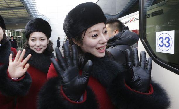 Pohjois-Korean cheerleaderit ovat erittäin suosittuja Aasiassa.