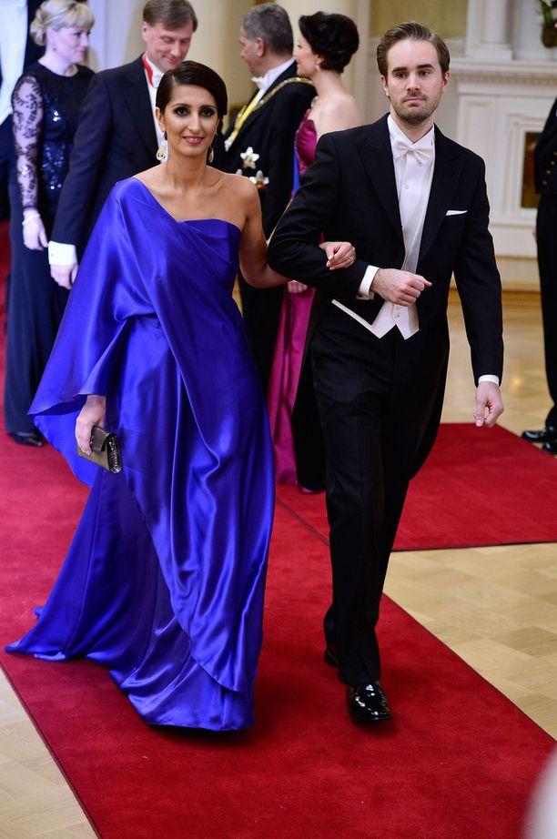 Nasima ja Johan edustivat presidentin itsenäisyyspäivän vastaanotolla viime vuonna.