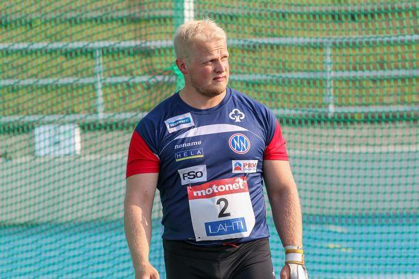 Tuomas Seppänen voitti Lahden GP:n moukarikisan keskiviikkona tuloksella 73,10.