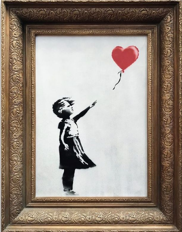Ilmapallotyttö on eräs Banksyn ikonisimmista teoksista.