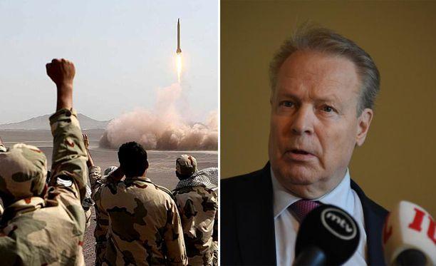 Ilkka Kanervan mukaan Suomi haluaa osana kansainvälistä yhteisöä rajoittaa Iranin valtaa Lähi-idässä.