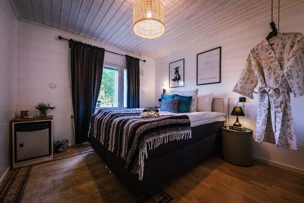 Tamminen avasi tänä kesänä putiikkihostellin Äkäslompolon kylälle. 7 Fells Boutique Hostelissa voi majailla tällaisissa huoneissa.
