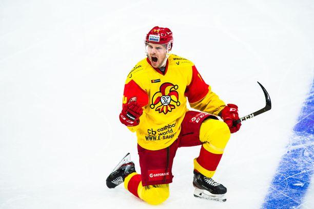 Mikko Lehtonen pelasi hurjan kauden Jokereissa.