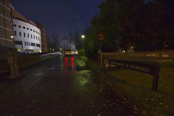 Kuopion poliisiasema arkistokuvassa.